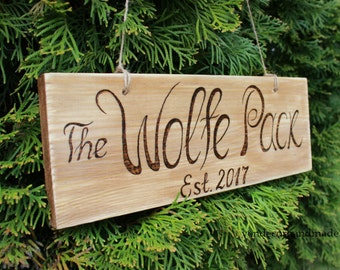 Wood Burned Sign, Custom Wooden Signs, Family Name Sign, Rustic Wood Signs, Custom Wood Burning, Rustic Wood Wedding Gift, Home Decor Signs