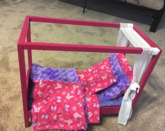"Six piece bedding for standard bed for 18"" dolls"