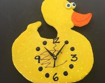 Kids Clock, Rubber Duck, Duck Wall Clock, Rubber Duck Bathroom, Rubber Duck Shower, Rubber Duck Baby Shower