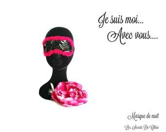 Black and fuchsia night mask The Chloé's Secrets