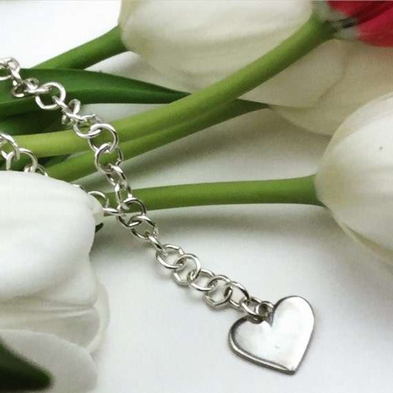 Heart Necklace in Silver with Pewter Heart Charm