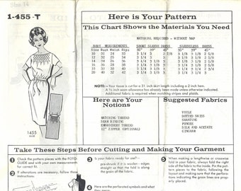 SALE 1960s Mail Order Parade Women's Smocked Dress Sewing Pattern UNCUT