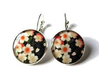 CHERRY BLOSSOM Earrings - Dangle Earrings - Sakura Earrings - Sakura Jewelry - Japanese Flowers - Flower Earrings - Pink Flower