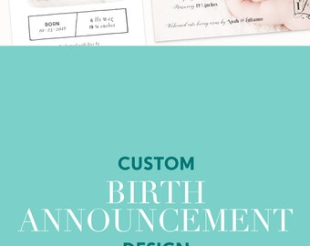 Custom Birth Announcements, Birth Announcement Cards, Newborn Announcements, Baby Announcements, Newborn Baby Girl, Newborn Baby Boy Cards