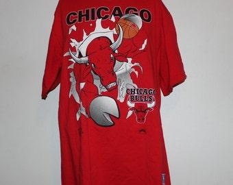 Vintage Chicago Bulls Nutmeg Mills NBA T-Shirt L
