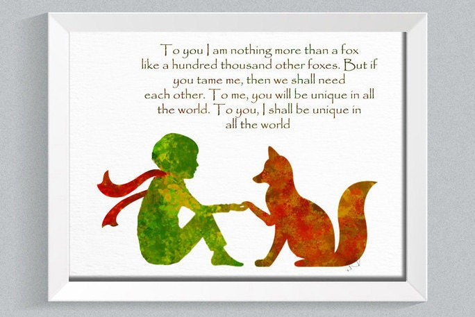Le petit prince fox quote the little prince fox little prince Decoration le petit prince