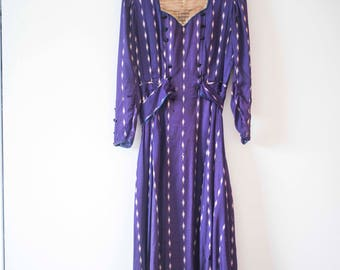 ONHOLD Downton Abbey 1910 || Vintage Silk Edwardian Dress || Purple Victorian Gown