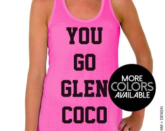 You Go Glen Coco - Pink Flowy Racerback Tank Top