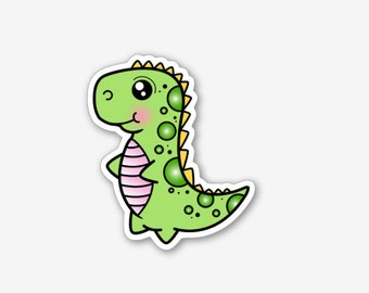 Kawaii Dinosaur - Sticker