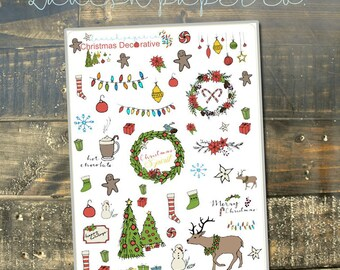 Christmas Planner Stickers by Lavish Paper Co. | for Erin Condren, Mormon Mom Planner, inkWELL Press, Happy Planner & More!