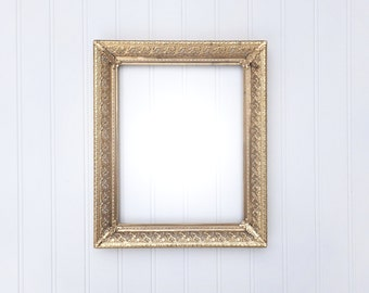 Beautiful Gold 8x10 ORNATE Vintage Metal Frame - Lacey Fancy Filigree Frame Wedding Centerpiece Cottage Shabby Chic
