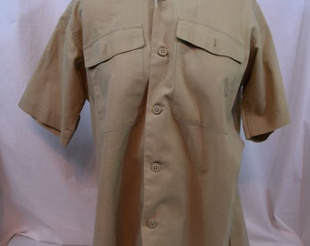 Vintage khaki short sleeve USAF military shirt