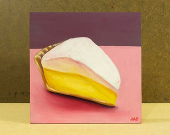 Lemon Meringue Pie Painting, Still Life