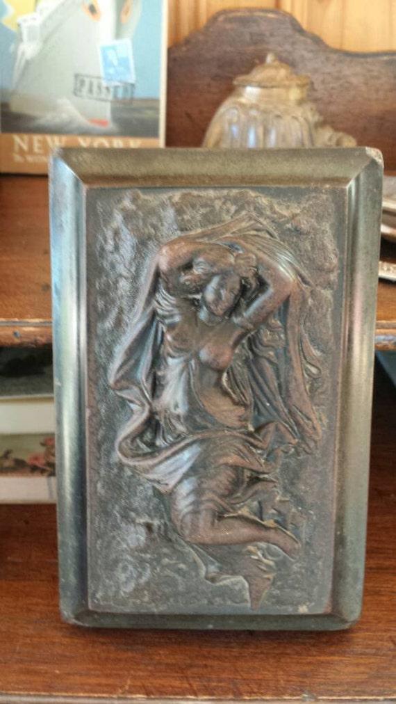 presse papier or blotter with art nouveau woman. Black Bedroom Furniture Sets. Home Design Ideas