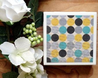 Tile Coasters - Ceramic Coasters - Ceramic Tile Coasters - Coaster Set - Table Coasters - Polka Dot Coasters - Coaster - Tile Coaster