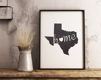Merveilleux Texas Wall Art | Etsy