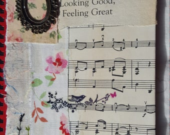Hand Decorated Journal Notebook