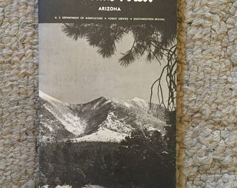 Coconino National Forest 1973 map