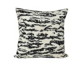 Serengeti Tigre Blanc designer pillow cover - Schumacher - 1 SIDED OR 2 SIDED - Choose Your Size