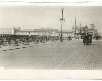 the boardwalk ~ Vintage Snapshot Photo ~ 1924 Atlantic City