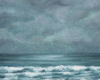 Reflections ii - Original oil on canvas seascape painting by Sam Lyle