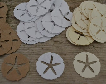 "Sand Dollar Punches, Sand Dollar Cut Outs, Card Confetti, Scrapbooking, Embellishments (3/4"") 