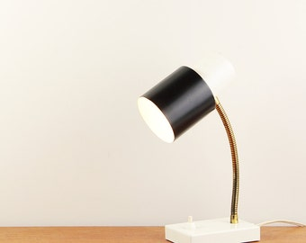 Vintage black & white table lamp made by Hala Zeist - Made in The Netherlands - ca. 1960s
