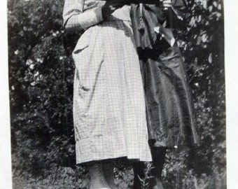 Vintage Photo..Looking at the Photo Album, 1910's Original Found Photo, Vernacular Photography