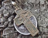 Civil War Soldier's Cross - Dug in a 58th New York Camp in Stafford, VA - Unique Crucifix, Authentic Religious 1800s Antebellum Era Antique