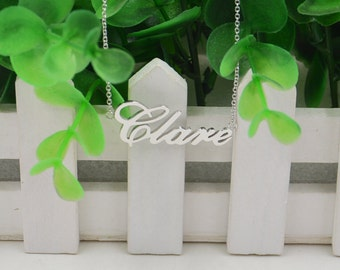 Name necklace sterling silver-custom name plate necklace-Personalized name jewelry-gift for friend
