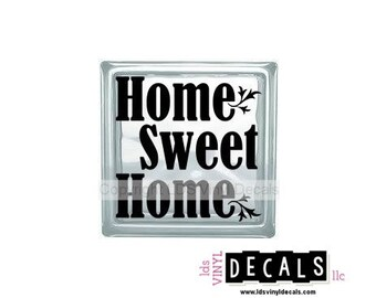 Home Sweet Home - Family Vinyl Lettering for Glass and Wood Blocks - Craft Decals