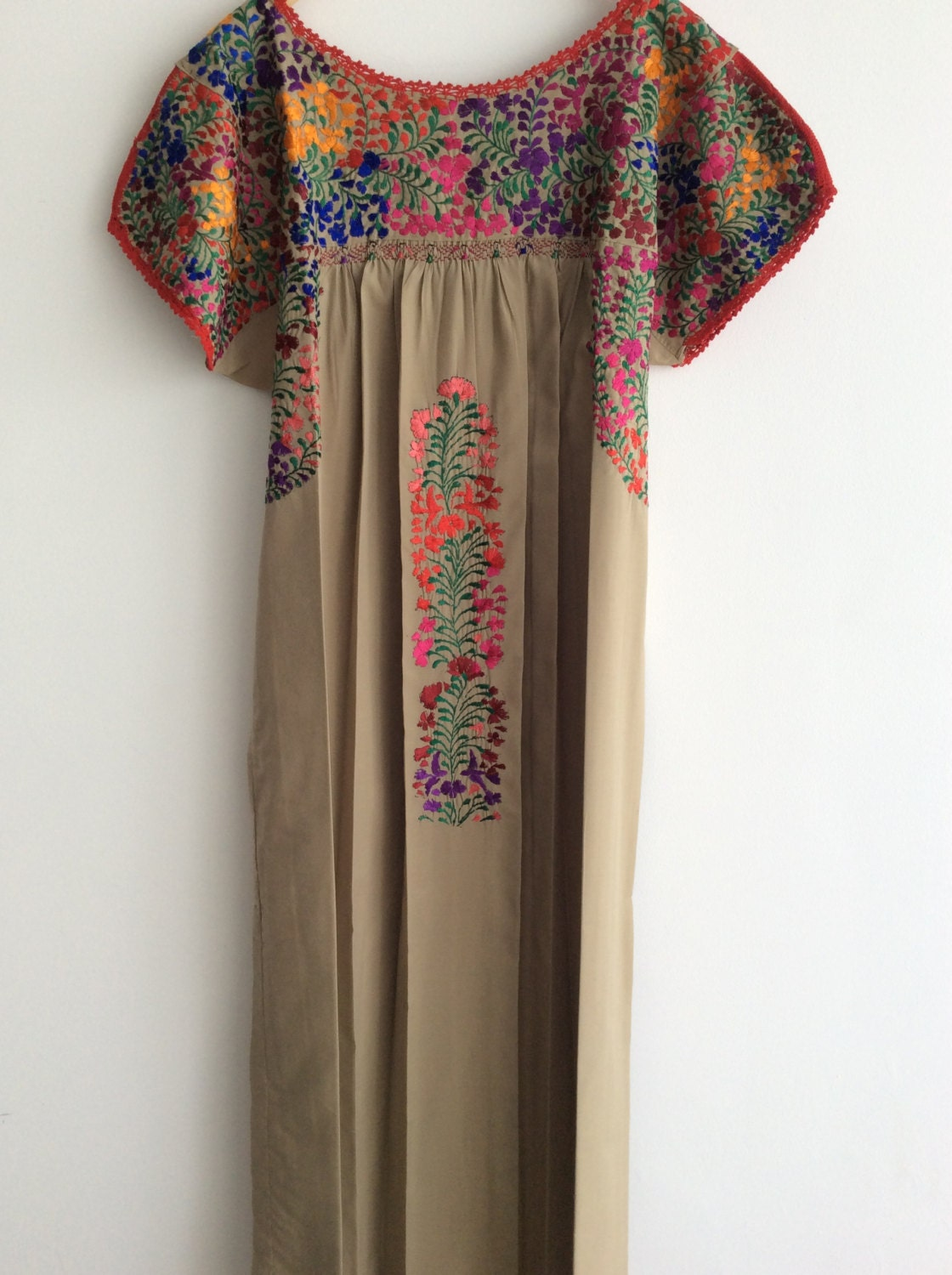 Mexican embroidered dress oaxaca mexico abundant splendid