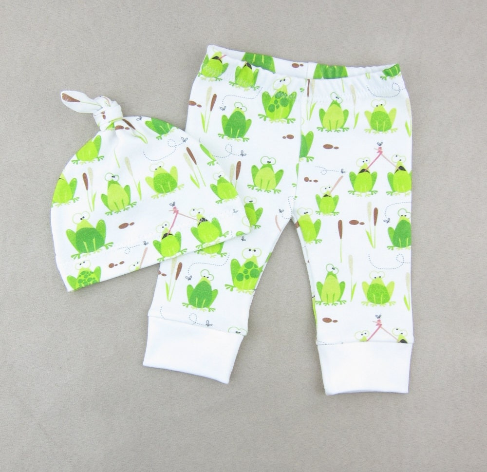 Frog Army Baby Clothing Set Frogs Baby Outfit Organic Baby