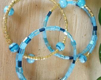 Ocean Blue Bangles