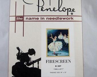 "Rare NEW Vintage Needlework Tapestries by Penelope Kit – BALLET – 18"" x 22"""