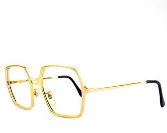 60s Vintage Eyeglasses | Hexagon Oversized Eyeglass Frame | NOS 1960s Glasses | Vintage Deadstock - 127