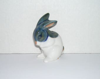 Vintage Small Bunny Rabbit Porcelain Figurine Hammersmith Farm Label