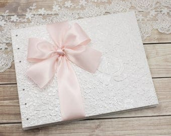 Wedding Guest Book, Party Guest Book, Photo Guest Book, White Guest Book, Select Your Pages, Blank or Lined, Custom Made Just for You