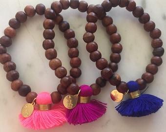 Tassel stretch bracelets