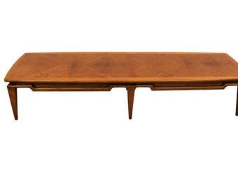 Mid-Century Danish Modern Walnut Surfboard Coffee Table by Lane