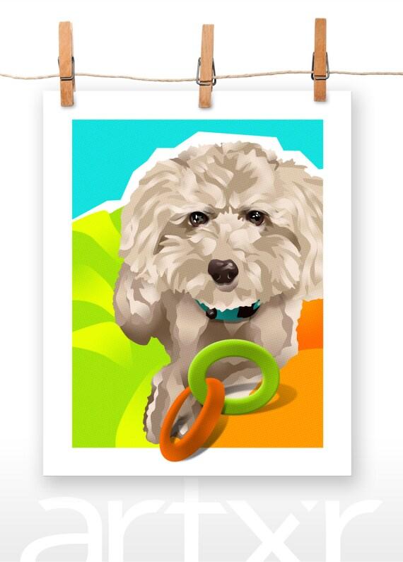 CHARLIE / The PET PROJECT / Poodle Mix / Fine Art Print / Various Sizes