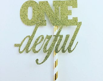 Onederful cake topper, ONE -derful cake topper, ONE-derful decor