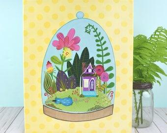 Whimsical Terrarium Painting