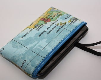 Sky blue world map sleeve-6 Plus iPhone case - iPhone 6 Plus sleeve -iPhone 7 plus ,cover for iPhone 6 Plus,Cover with map of the world