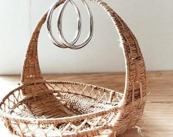 Large Silver Plated Oval Hoop Earrings