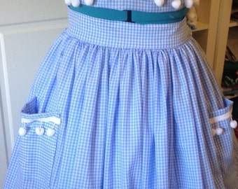 3 Piece Rockabilly skirt,top and shorts custom made.