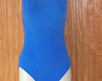 Vintage Sky Blue La Bianca One Piece Swimsuit -  Size 12