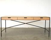 Wenworth desk - Oak and Wax steel - Free Shipping