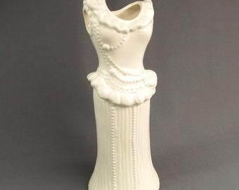 Vintage Wedding Dress Form Vase Bridal Shower Décor Vintage 1980s