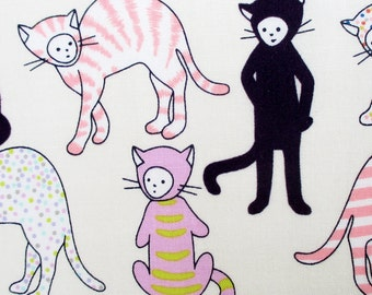 Fabric, Kitty Kat Max in Tea, Alexander Henry, Cats, Boys, Wild Things, Kids, By the Yard